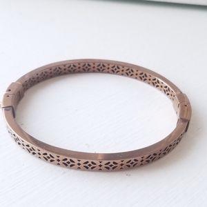 Fossil Filigree Bangle Bracelet